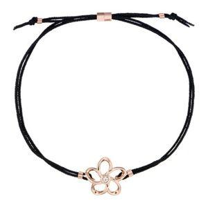 TED BAKER LONDON Rose Gold Black Crystal Bracelet
